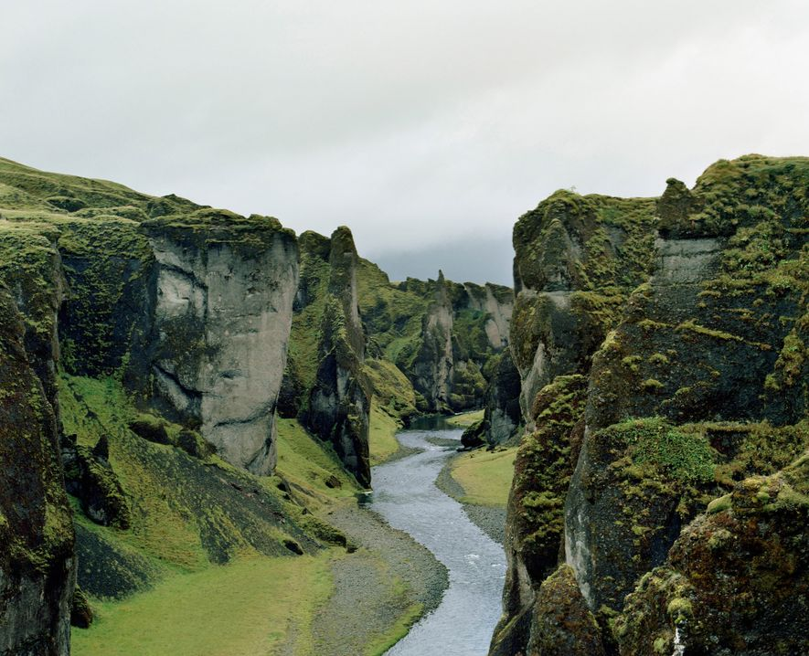 The walls of Fjaðrárgljúfur Canyon are believed to have formed around 10,000 years ago at the ...