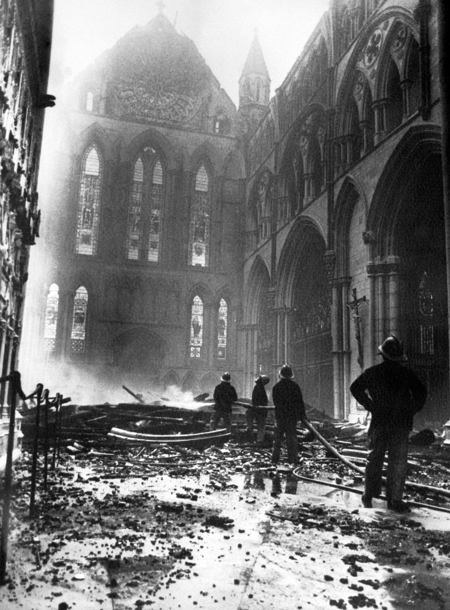 Lightning sparked a catastrophic fire at York Minster Cathedral in 1984.
