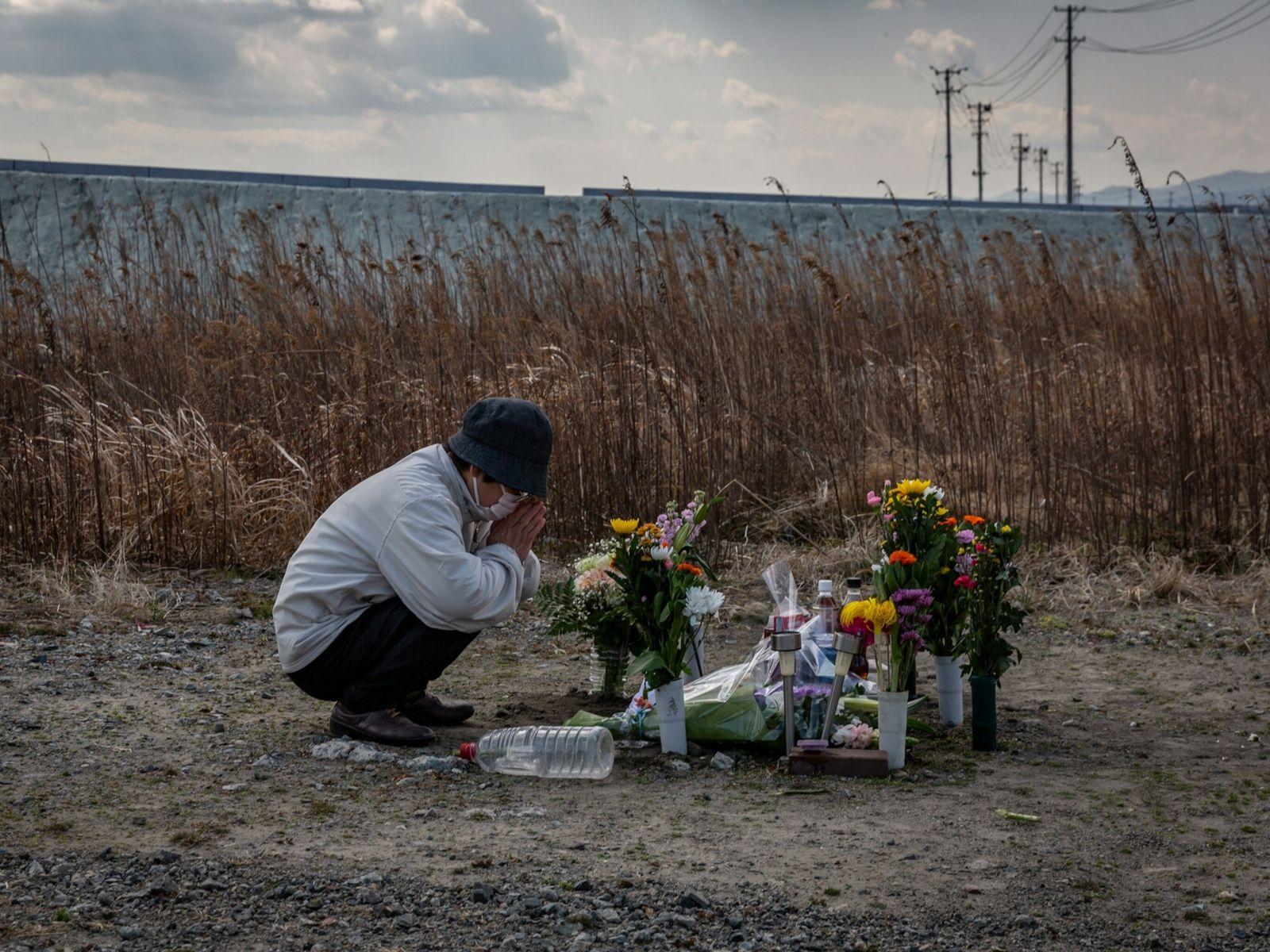 Memorial in Namie, Japan