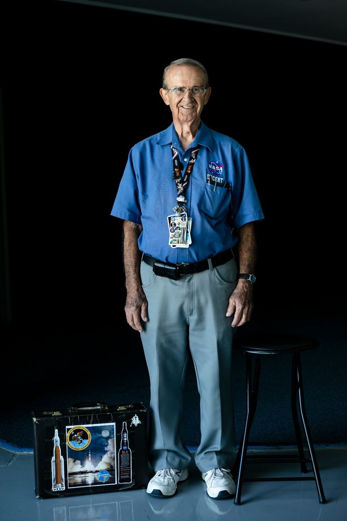 Kennedy Space Center docent Walter Starkey, 81, is a U.S. Air Force veteran who worked on ...