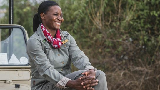 Senior GuideFlorence Kagiso mentors a group of 17 female guides,known affectionately as Chobe's Angels, at Chobe ...