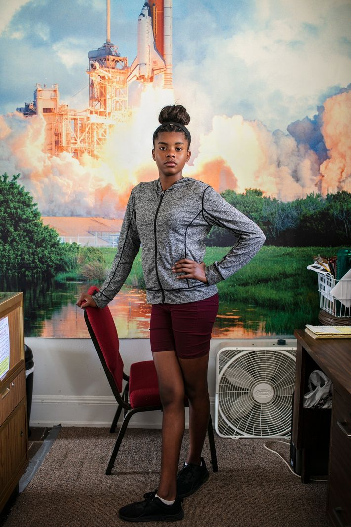 Titusville resident Alyssia Pickens, 12, was a baby when she saw her first rocket launch, and ...
