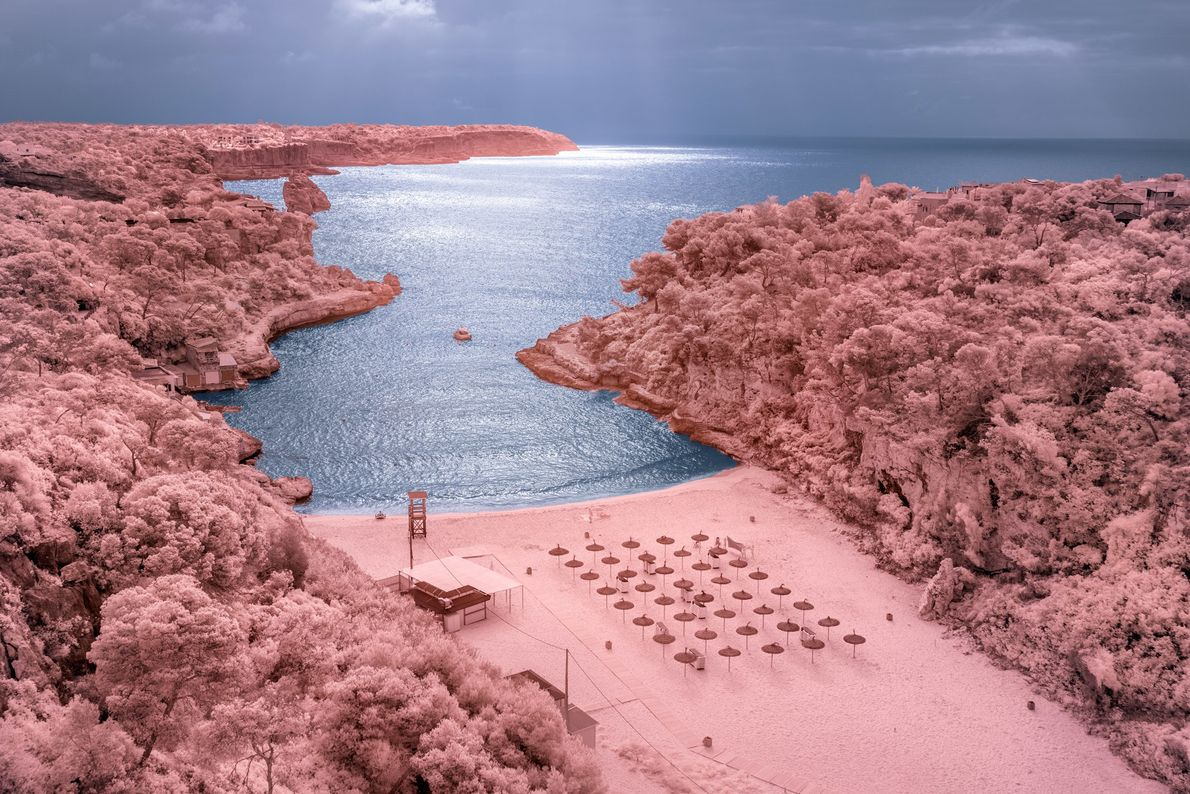 Places like Cala Llombards beach have reveled in the recent serenity but are also stressed by ...