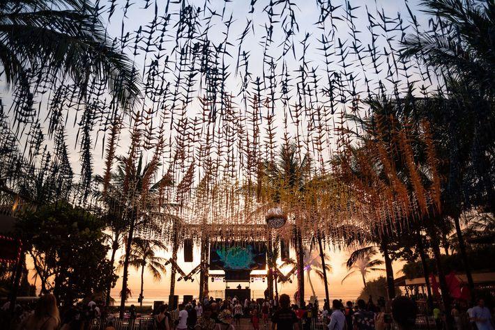 New Year's Eve celebrations at Desa Potato Head, on the Indonesian isle of Bali.