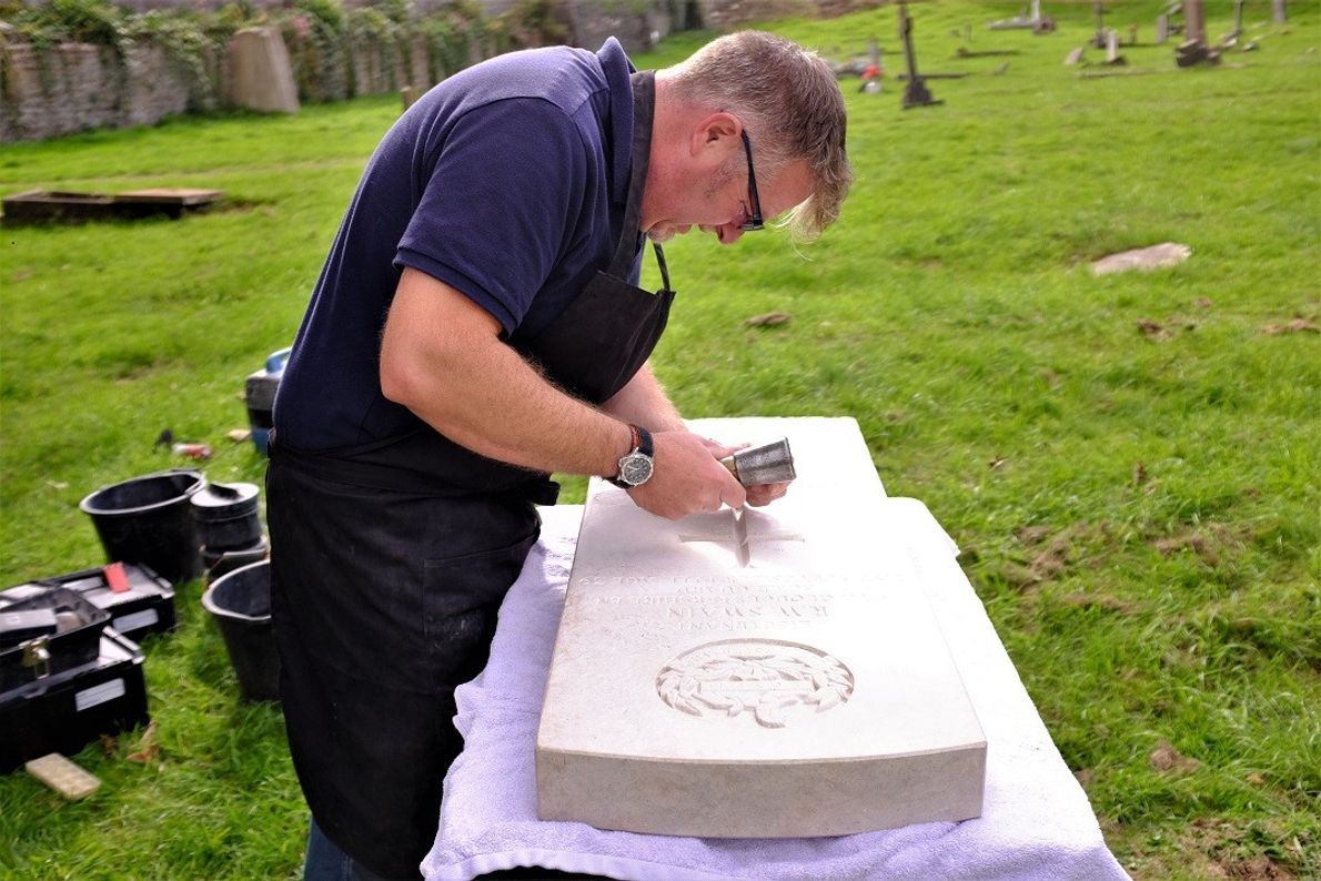 A dying art. Simon Ashwell got into memorial masonry through his father, who worked in the ...
