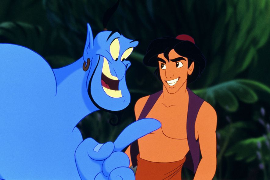 Robin Williams gave an iconic performance as the genie in the 1992 animated version of Aladdin.