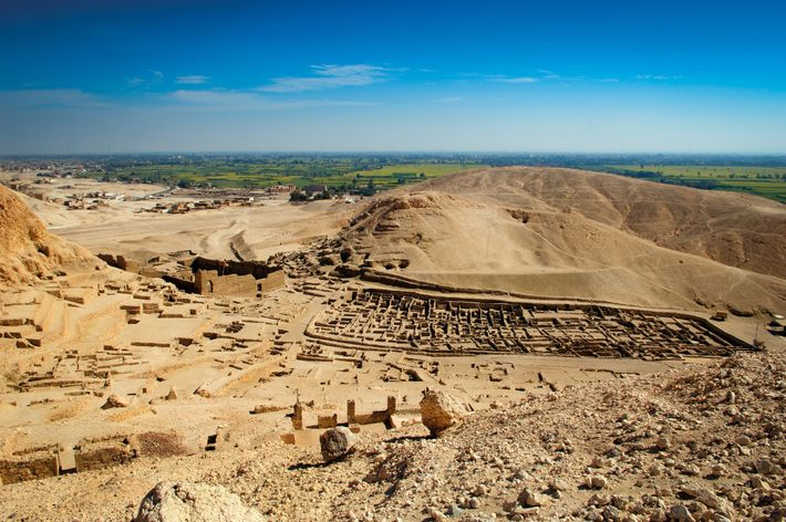 On the west bank of the Nile, the site of Deir el Medina was home to ...