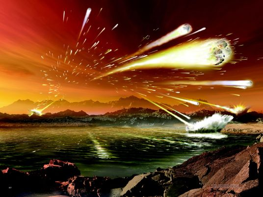 The Meteor Storms of Ancient Earth May Still Be Happening