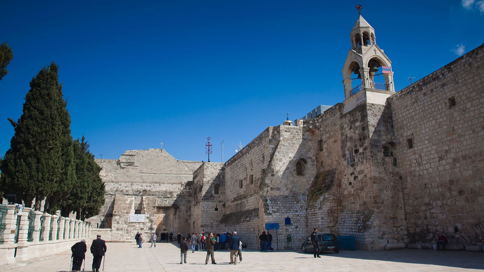 The Church of the Nativity is on the site in Bethlehem where Jesus Christ is thought ...