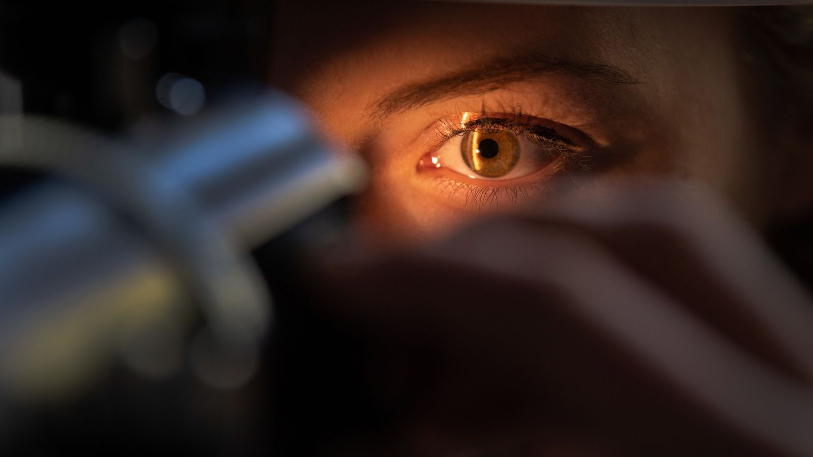 A doctor examines the eye of a patient in Baden-Wuerttemberg, Germany. Recent advances in technologies and ...