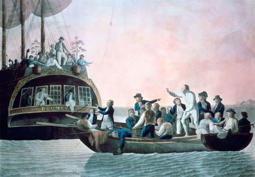 After they took over the HMS Bounty, the mutineers set Bligh and his supporters adrift in the Pacific in an open boat.