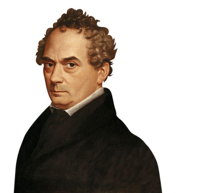 Clemens Brentano, 19th-century portrait by Emilie Linder