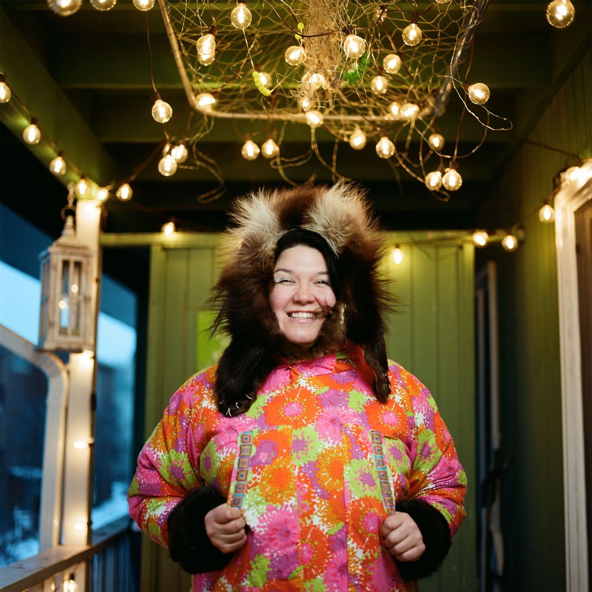 """""""My rap name is AKU-MATU,"""" says Allison Akootchook Warden, who is Inupiaq and lives in Anchorage, ..."""