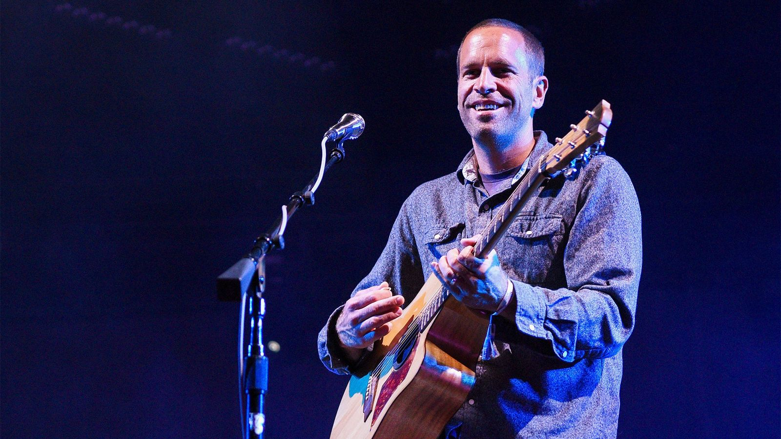 """Jack Johnson performs in Monterey, California. The musician recently wrote a song, """"Fragments"""" inspired by the ..."""