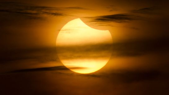 Early January will bring a partial solar eclipse for some lucky sky-watchers in Asia, like this ...