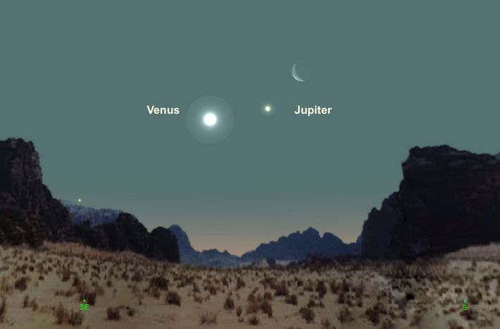 Venus, Jupiter, and the moon will form an enticing trio on January 30.