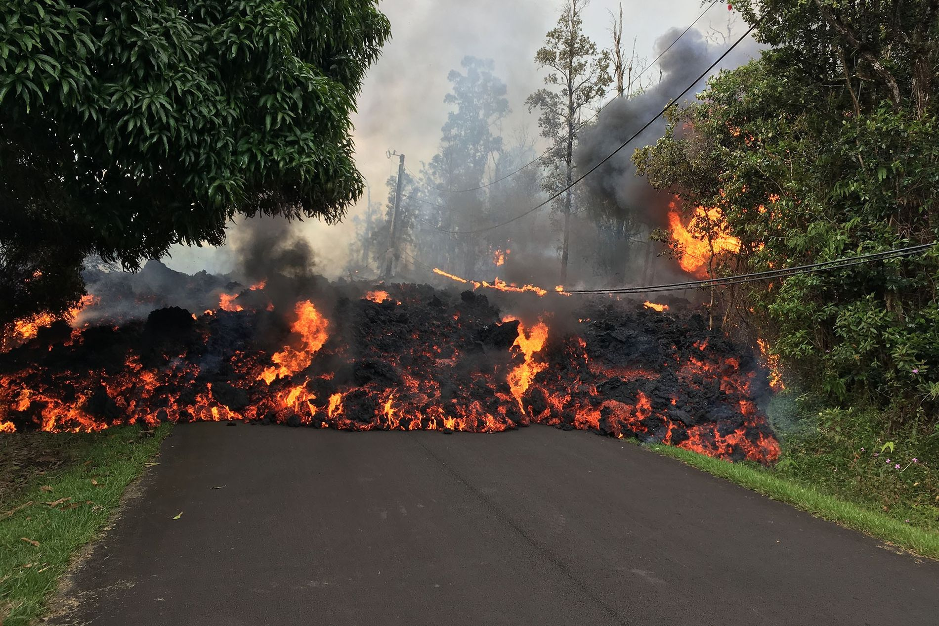 Lava from Hawaii's volcanoes tends to be comparatively runny due to its lower silica content.