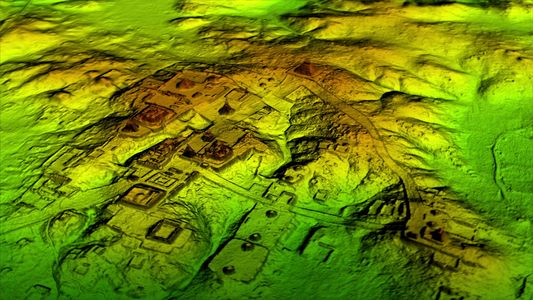 "Exclusive: Laser Scans Reveal Maya ""Megalopolis"" Below Guatemalan Jungle"