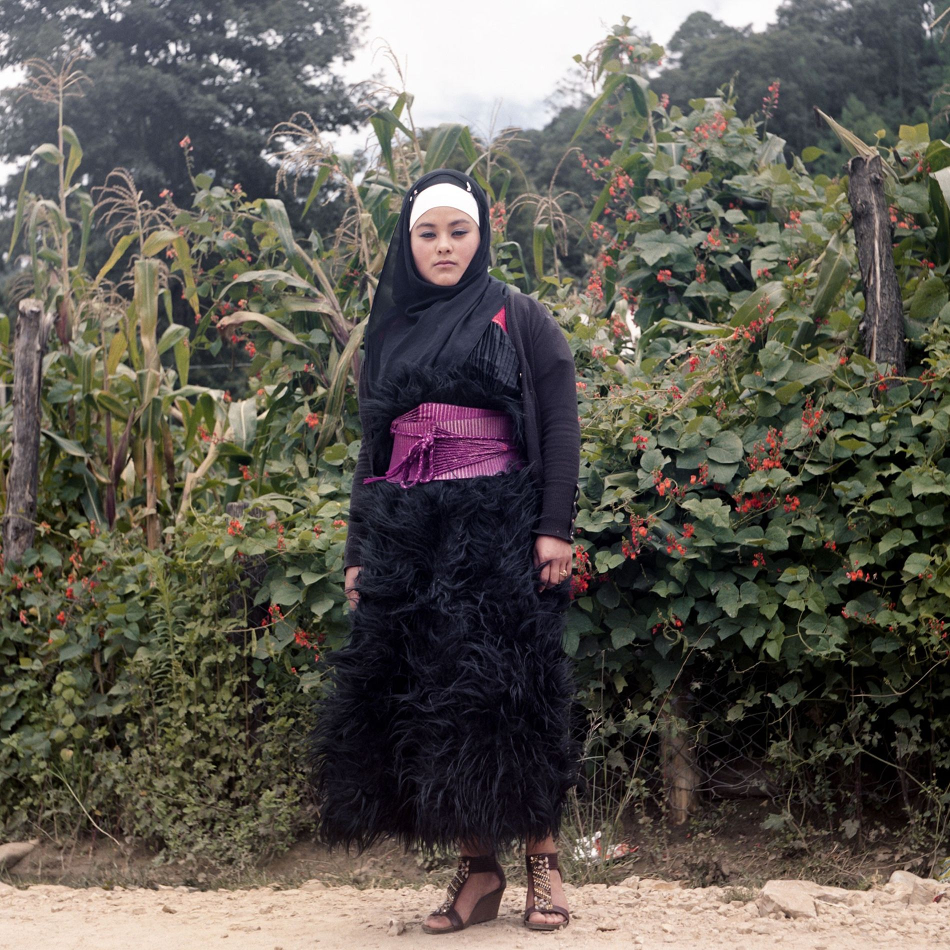 In a corn field in the Mexican state of Chiapas, Salma Palamo Diaz wears a traditional ...