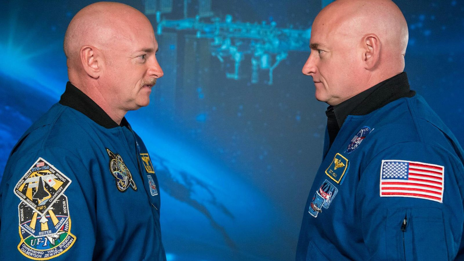Twins Scott and Mark Kelly formed part of a study into the effects of spaceflight on ...
