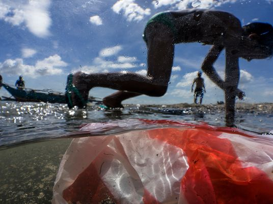 Plastic rubbish flowing into the seas will nearly triple by 2040 without drastic action