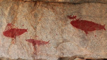 Dramatic Whale Hunts Painted in Ancient Rock Art