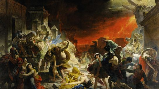 Painted in the mid-1800s, 'The Last Day of Pompeii' offers an artist's imagining of the A.D. ...