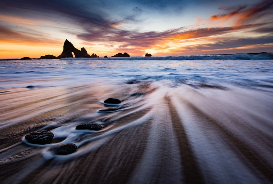 """""""Martin's Beach, a crescent-shaped cove on the San Mateo coast in California, has recently been made ..."""