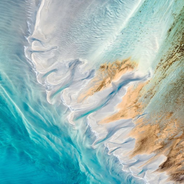 Your Shot photographer Carolyn Cheng photographed the waters of Shark Bay in Australia from an aerial ...