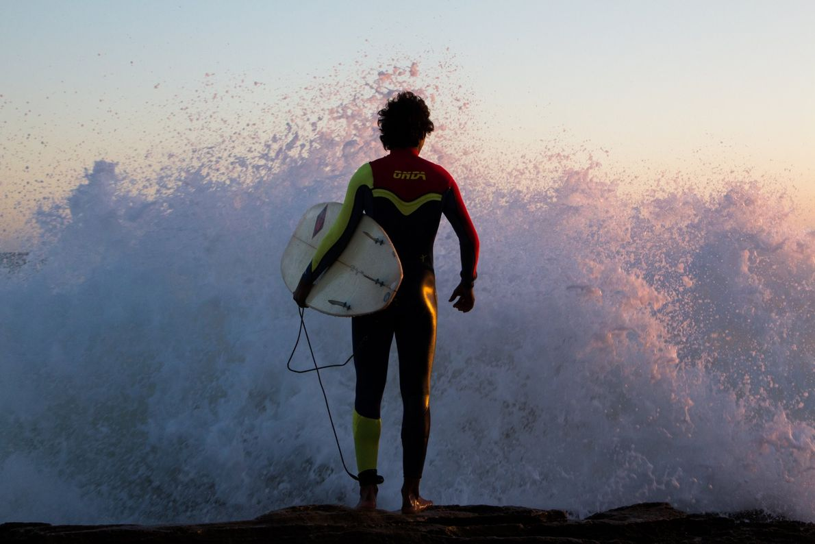Your Shot photographer Katherine P. photographed this surfer as they stood waiting for the perfect moment ...