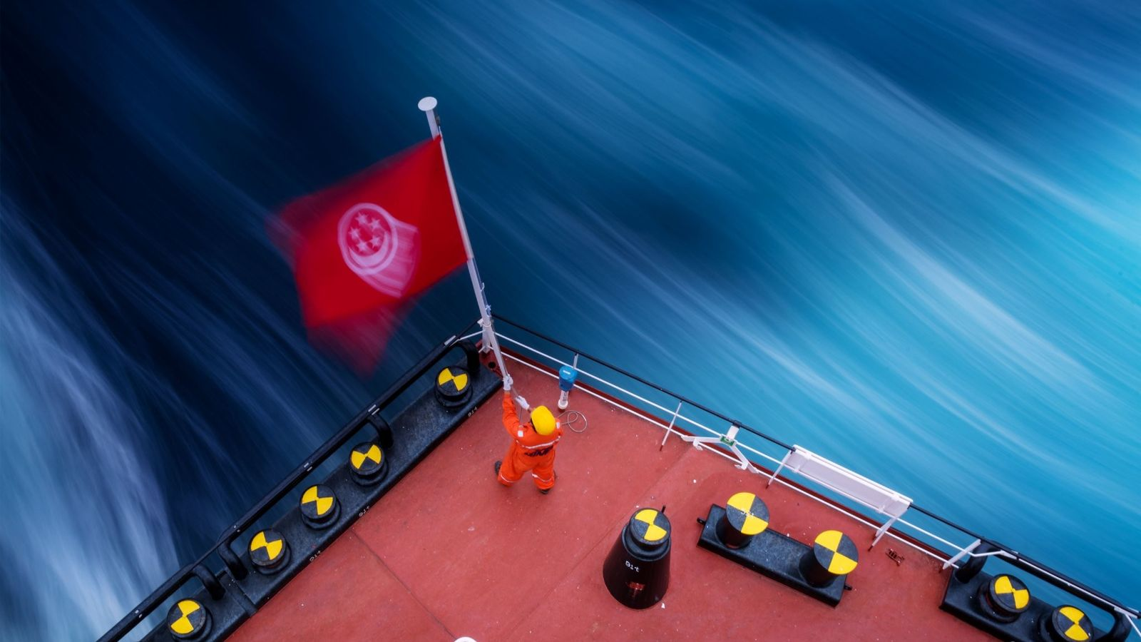 """""""From the time that ships started sailing, flags were in place as a mode of communication ..."""