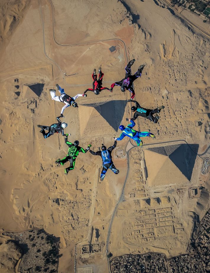"""""""An extremely unique opportunity was given to a small group of skydivers in December 2018 to ..."""