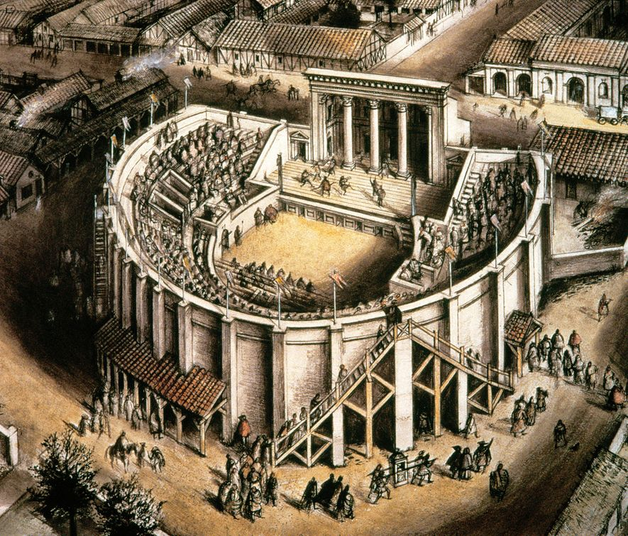 The construction of the second-century theater at Verulamium took place when the city was rebuilt after Boudica's devastating attack.