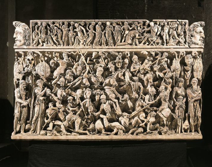 The violent nature of Germanic tribes was a popular theme in ancient Roman art and literature. ...