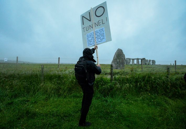 Opponents of the tunnel include archaeologists, environmentalists, and modern-day druids.
