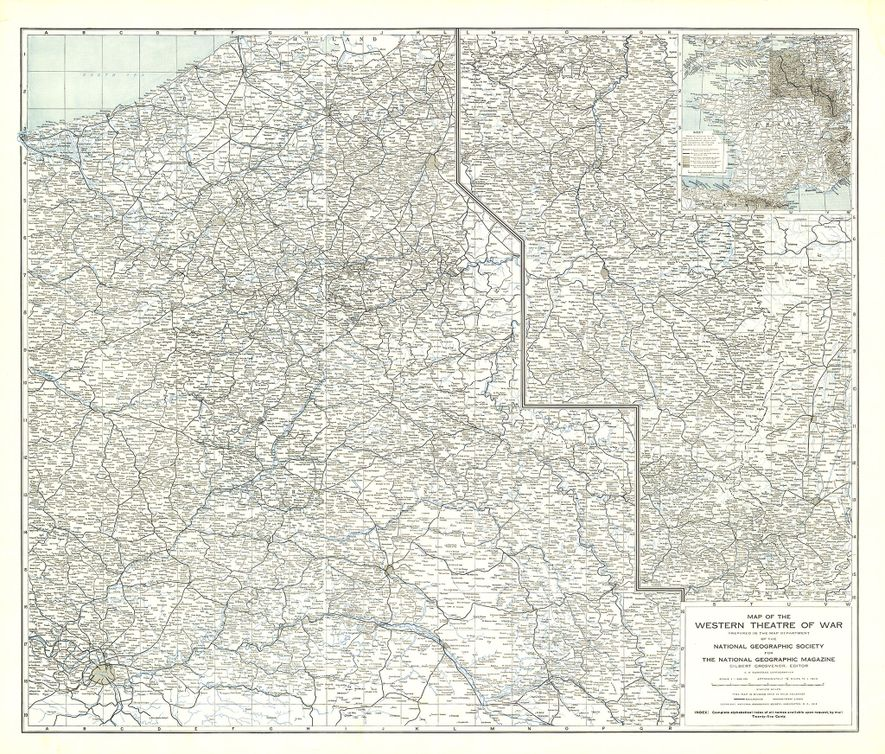 National Geographic Maps the Western Front