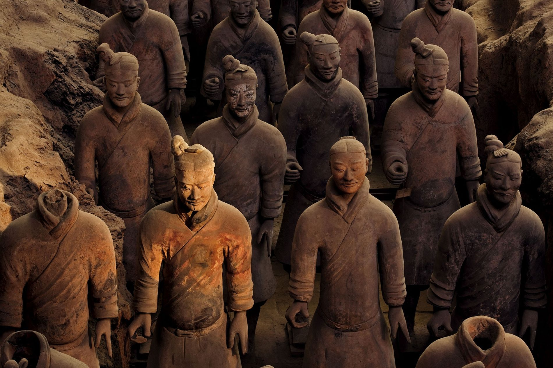 The terracotta army was created to serve China's first emperor in the afterlife.