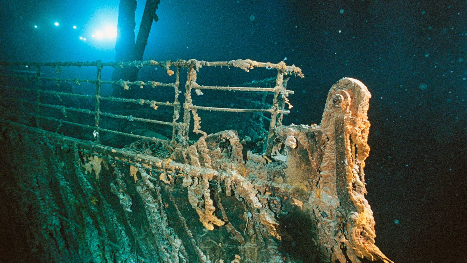 According to experts' various theories, the decayed bow of the famous ship could collapse in a ...