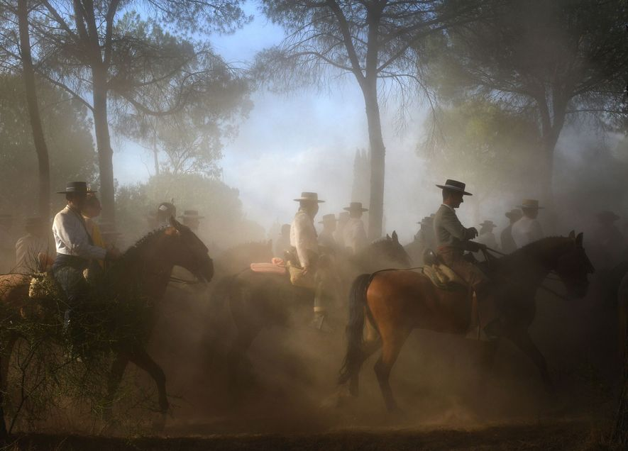 Each summer, thousands of people on horseback and foot flock to southern Spain, a celebration of ...