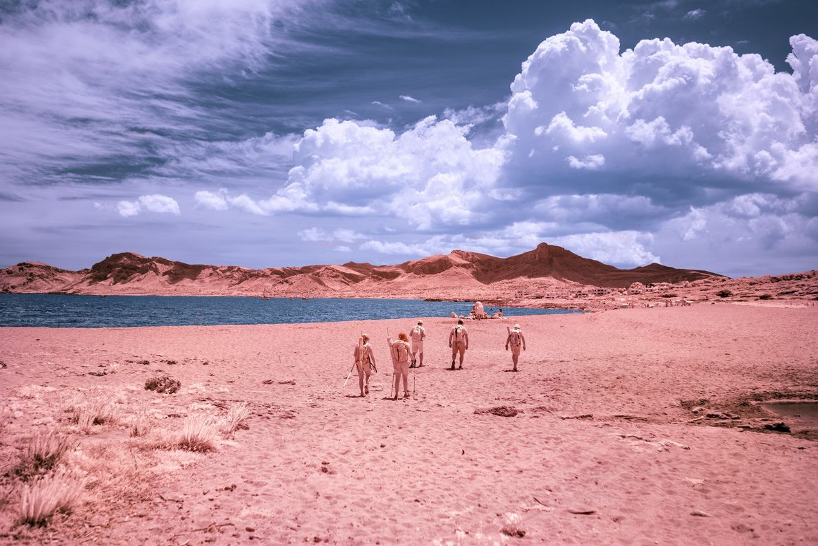"At Son Serra de Marina beach, local families hike and camp overnight. ""It's a very Mallorcan ..."