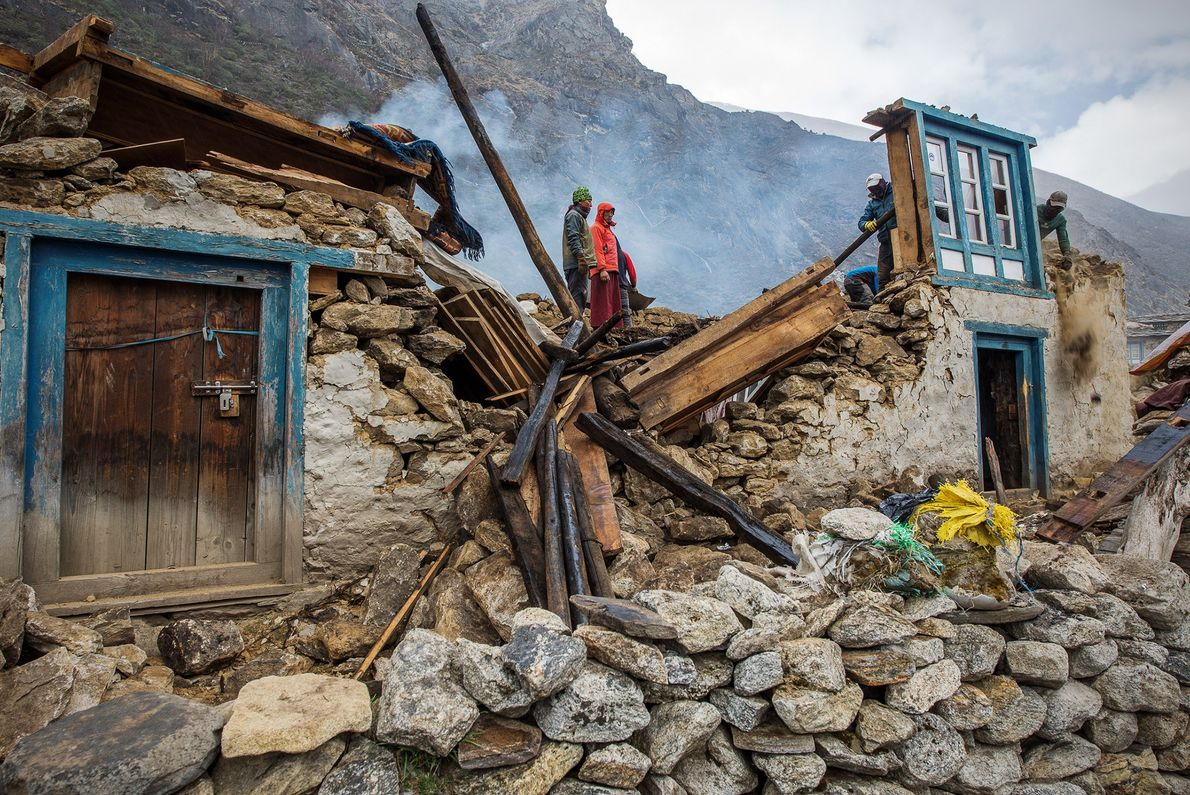 Photographer and mountain guide David Morton was visiting the rural Sherpa village of Thame in eastern ...