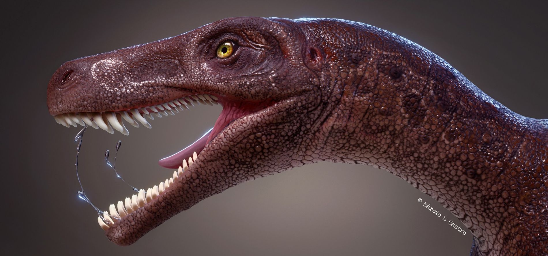 Gnathovorax cabreirai, seen here in an illustration, was the oldest meat-eating dinosaur of its kind in ...