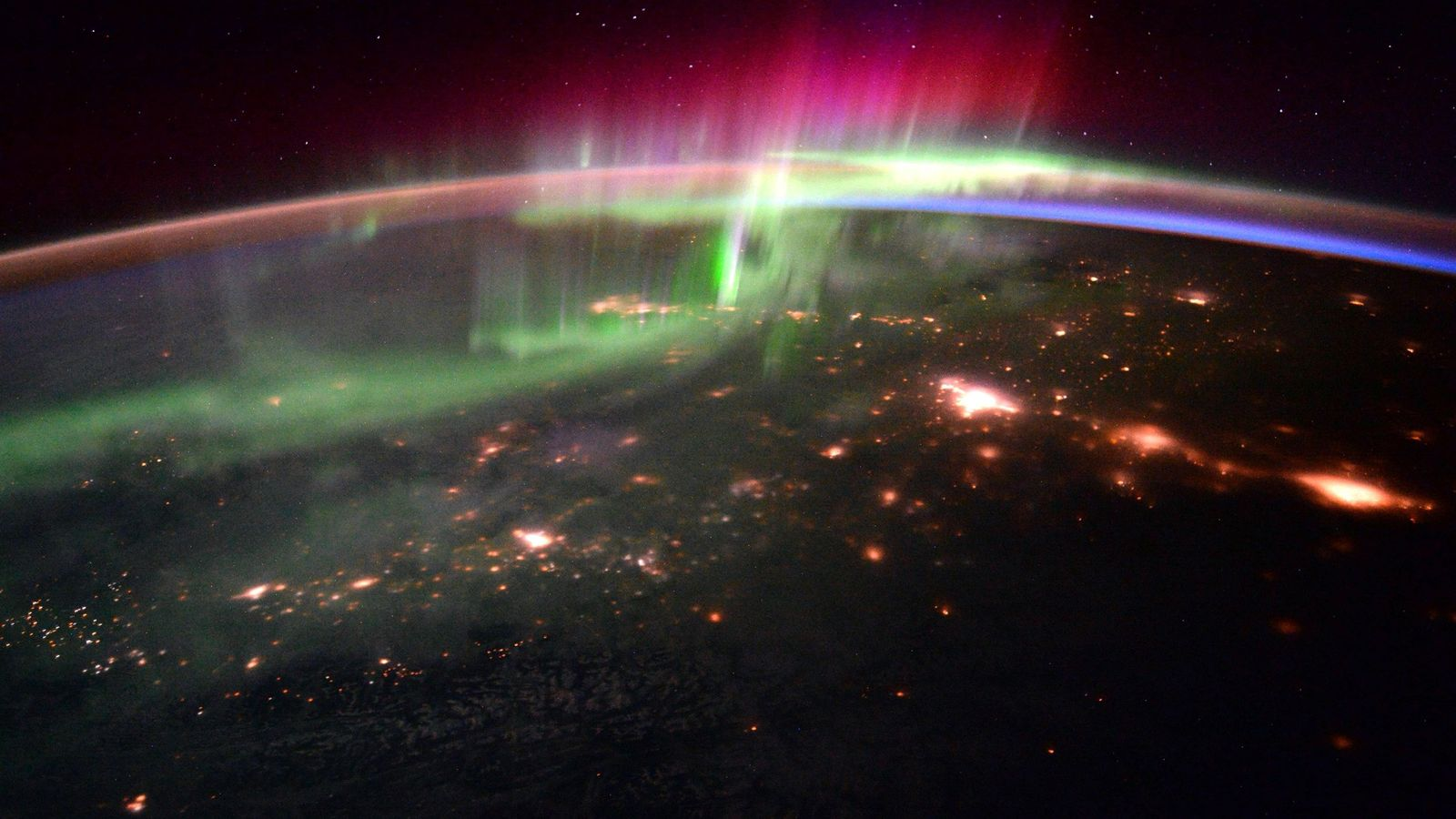 The interaction of solar wind with our planet's magnetic field produces stunning light shows, like these ...