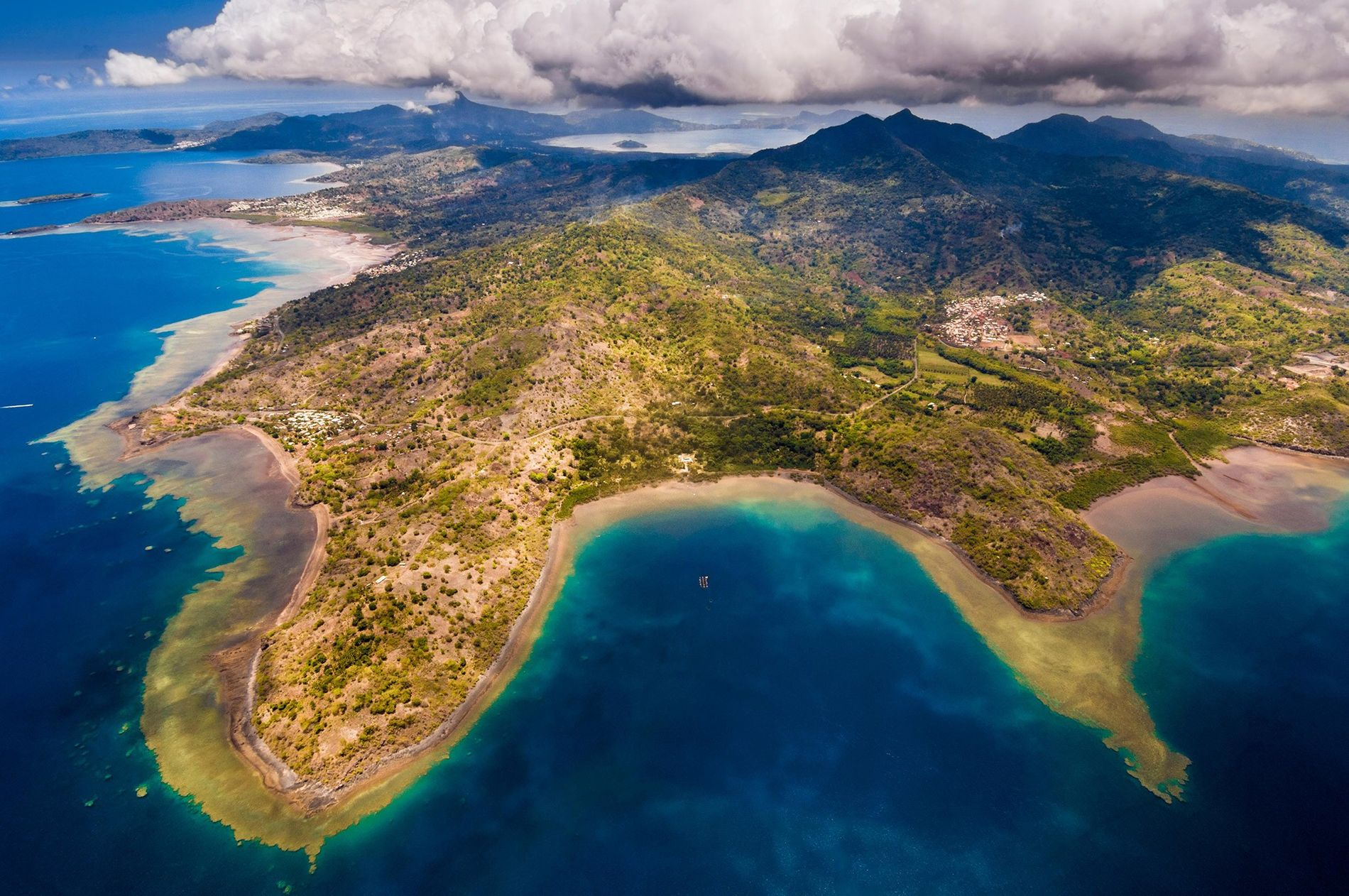 An aerial view of Mayotte's South Island.