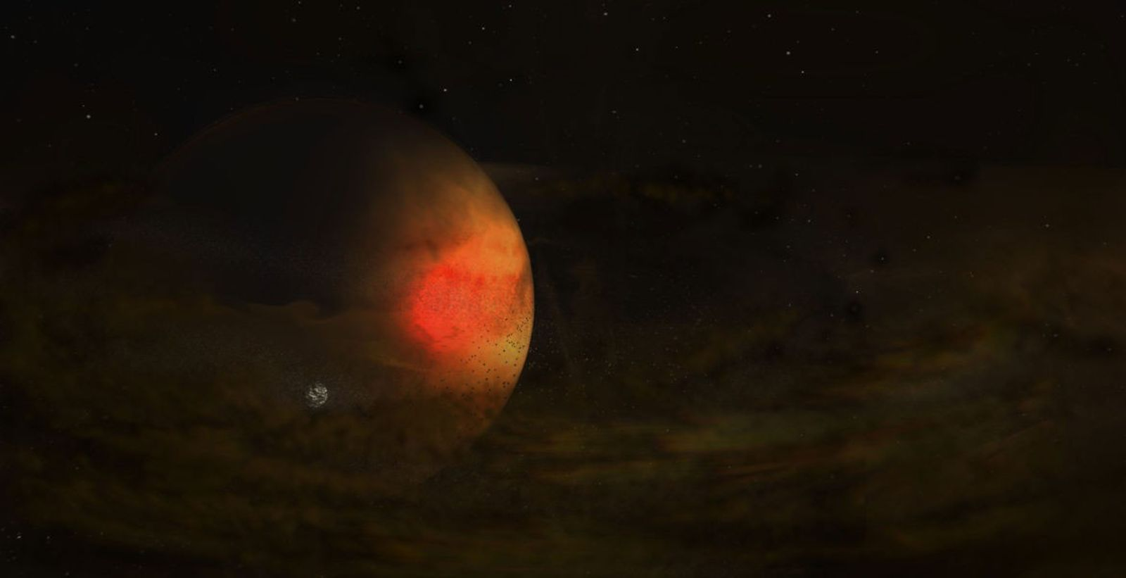 Alien moon likely seen forming in first-of-its-kind picture