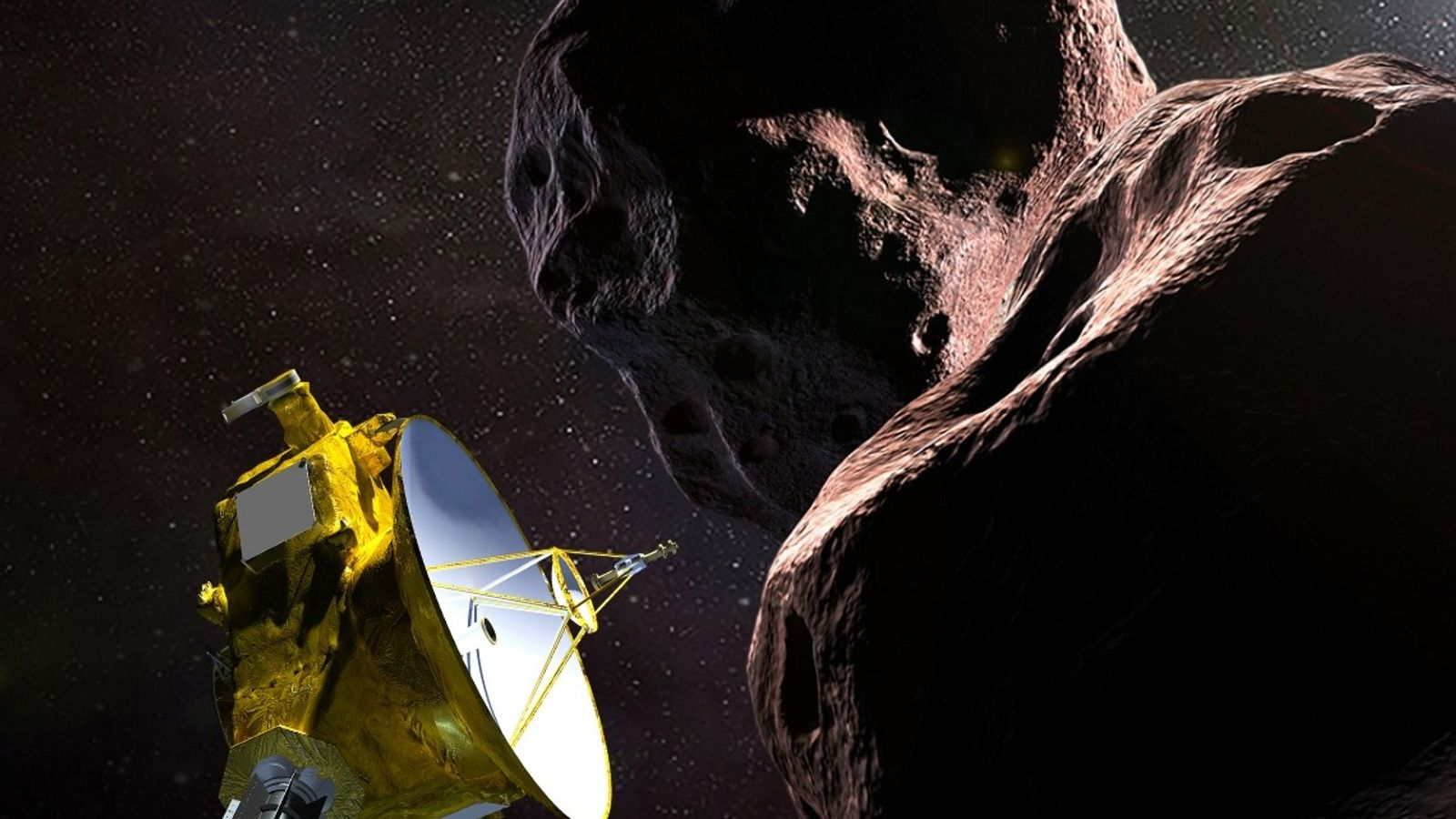 NASA's New Horizons spacecraft encounters 2014 MU69, a small world also nicknamed Ultima Thule, in an ...