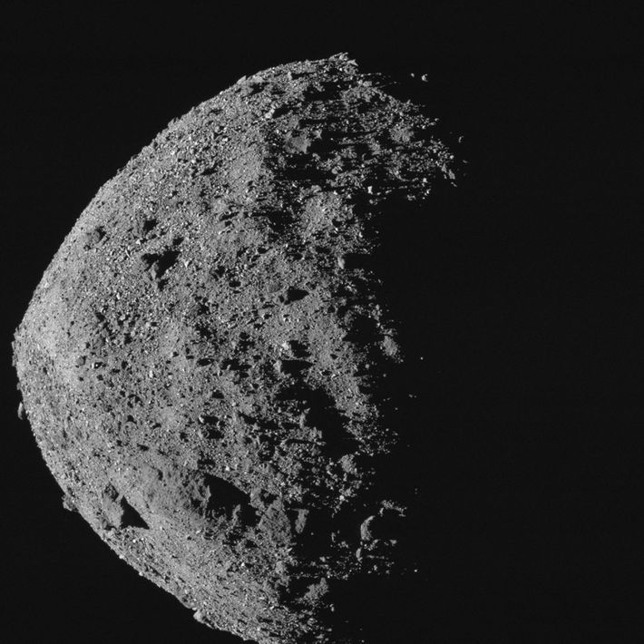 The near-Earth asteroid Bennu is a bit taller and wider than the Empire State Building. It ...