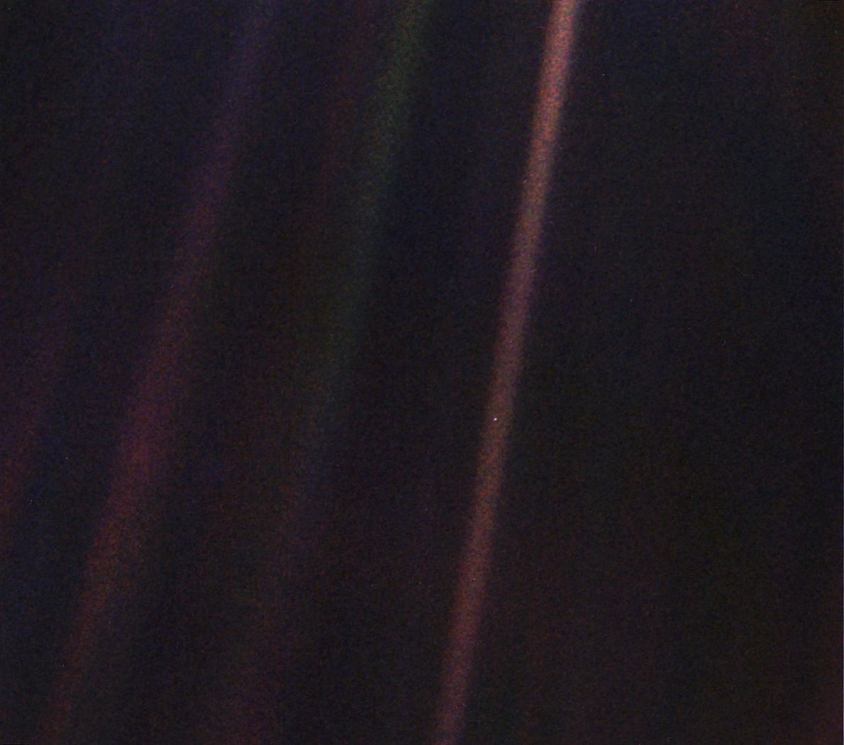 The first person to see the 'Pale Blue Dot' image still has it stashed in her ...