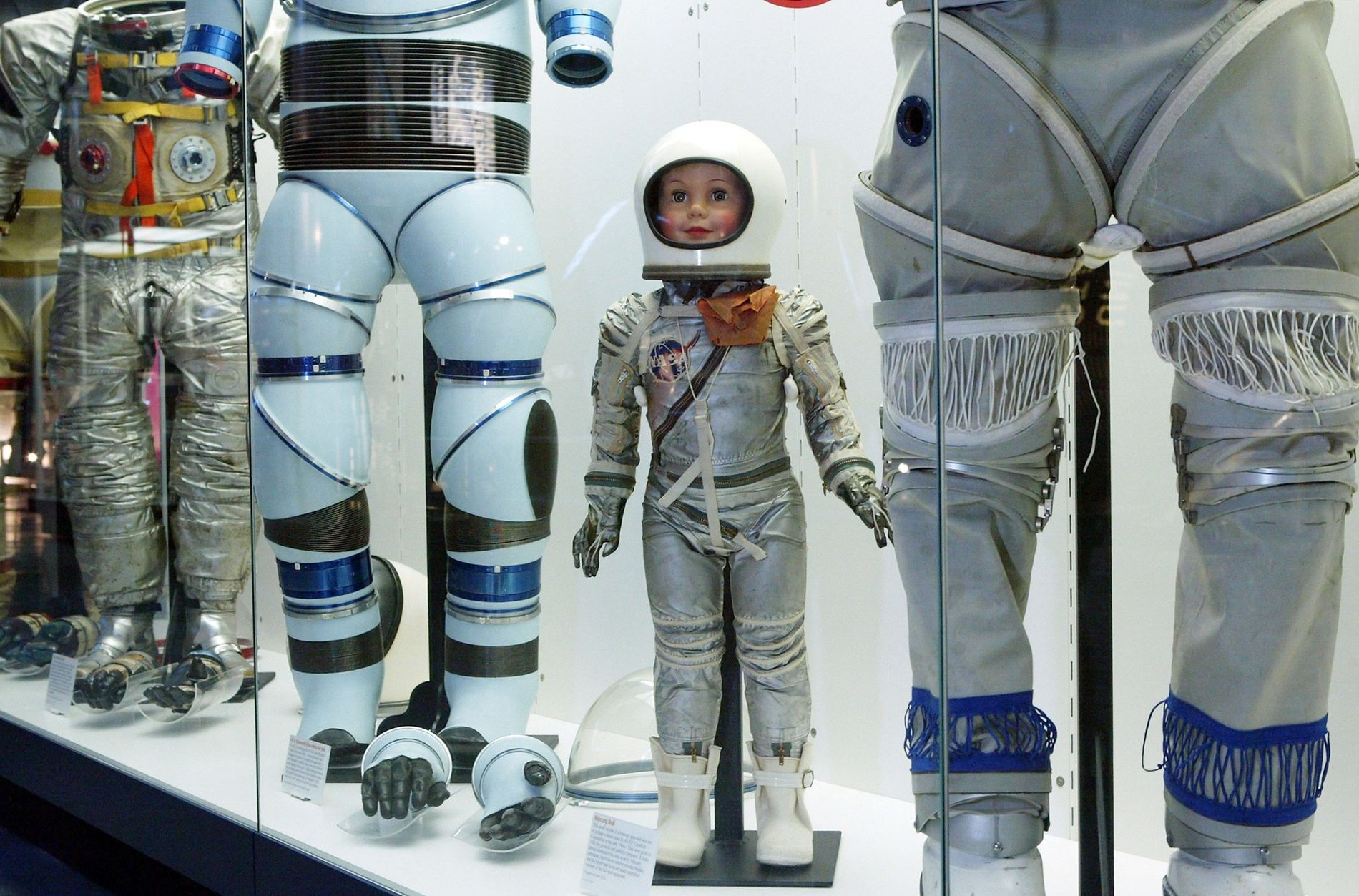 Spacesuits are among the artifacts in the collection of the Smithsonian that include plastic parts—parts that ...