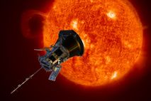 The Parker Solar Probe approaches the sun in an illustration. Launched in 2018, the spacecraft has ...